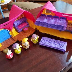 Little People Snow White Dwarfs Cottage